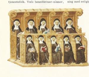 Benedictine nuns at work